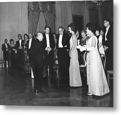 Casals White House Convert Metal Print by Underwood Archives