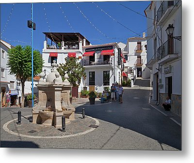 Casares Village Streets Malaga Metal Print by Panoramic Images