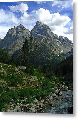 Cascade Creek The Grand Mount Owen Metal Print
