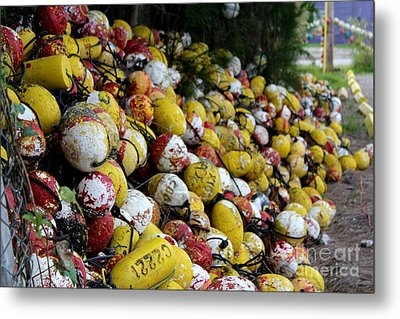 Cascade Of Buoys Metal Print by Theresa Willingham