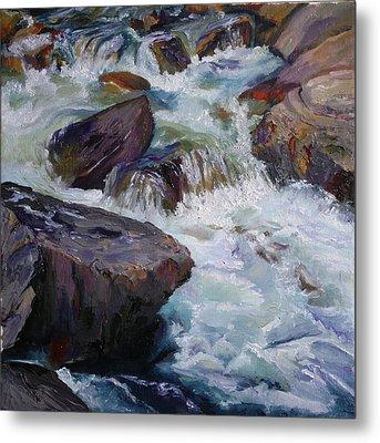 Cascades After Daniel Edmondson Metal Print