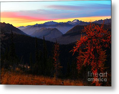 Cascades Sunrise Metal Print by Jane Axman
