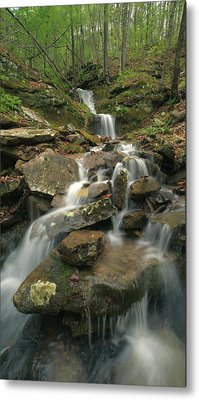 Cascading Creek Mulberry River Arkansas Metal Print