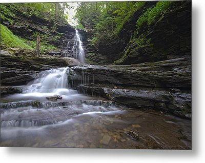 Cascading Falls Metal Print by Phil Abrams