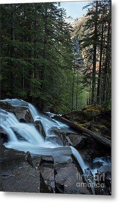 Cascading Mountain Falls Metal Print by Mike Reid