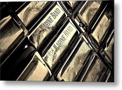 Case Of Harmonicas  Metal Print by Chris Berry