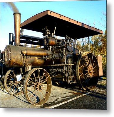 Case Steam Tractor Metal Print by Pete Trenholm