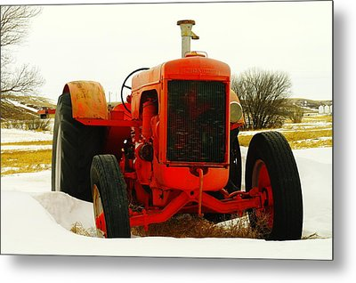 Case Tractor Metal Print by Jeff Swan