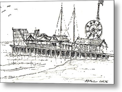Casino Pier In Seaside Heights Nj Metal Print
