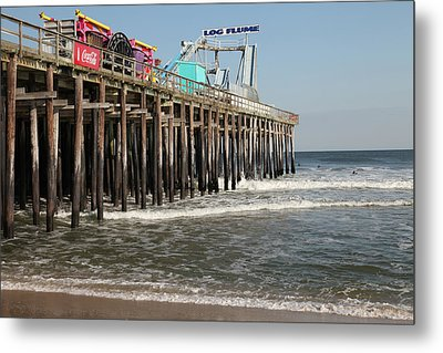 Casino Pier  Seaside  Nj Metal Print by Neal Appel