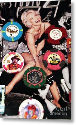 Casino Winnings Metal Print by John Rizzuto