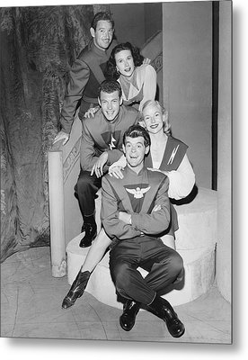 Cast Of Space Patrol Metal Print by Underwood Archives
