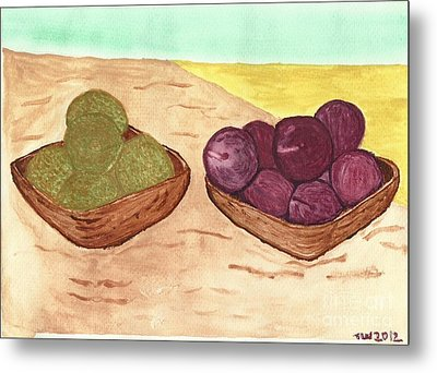 Castaway Fruit Metal Print by Tracey Williams