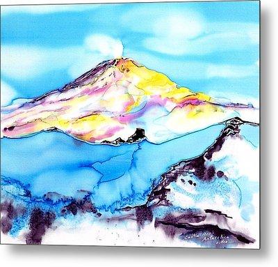 Caste Rock Antarctica Metal Print by Carolyn Doe