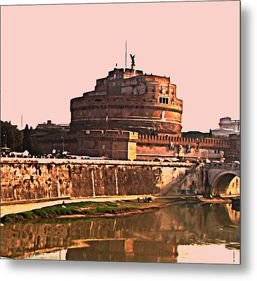 Metal Print featuring the photograph Castel Sant 'angelo by Brian Reaves