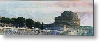 Metal Print featuring the painting Castel Sant'angelo     by Brian Reaves