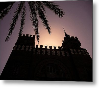 Castell Dels Tres Dragons ... Metal Print by Juergen Weiss