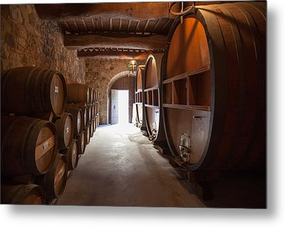 Castelle Di Amorosa Barrel Room Metal Print