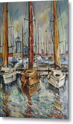 Castellon Boats At Noon Metal Print by Stefano Popovski