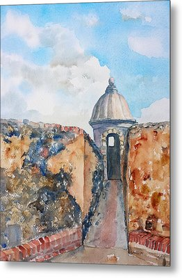 Castillo De San Cristobal Sentry Door Metal Print by Carlin Blahnik
