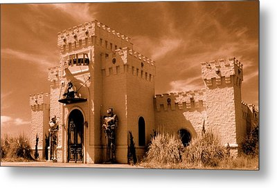 Metal Print featuring the photograph Castle By The Road by Rodney Lee Williams