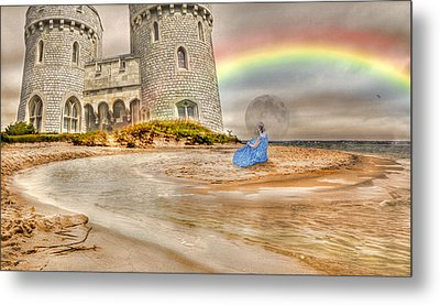 Castle By The Sea Metal Print by Betsy Knapp