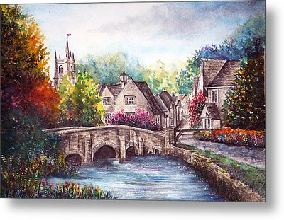 Castle Combe Metal Print by Ann Marie Bone
