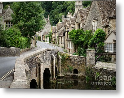 Castle Combe Cotswolds Village Metal Print by IPics Photography