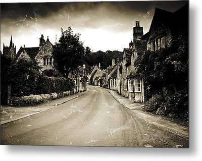 Metal Print featuring the photograph Castle Combe  by Stewart Scott
