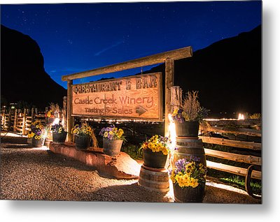 Castle Creek Winery Metal Print by Michael J Bauer