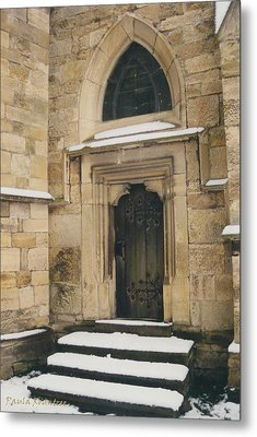 Castle Door Metal Print by Paula Rountree Bischoff