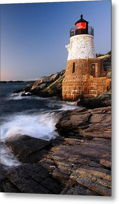 Castle Hill Lighthouse Dusk Metal Print by James Kirkikis