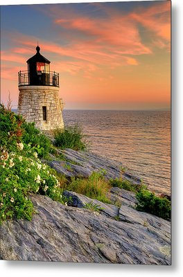 Castle Hill Lighthouse-rhode Island Metal Print by Thomas Schoeller