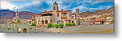 Castle In A Desert, Scottys Castle Metal Print by Panoramic Images