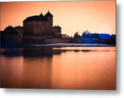Castle In Artistic Infrared Image Metal Print