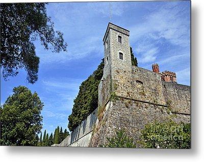 Castle In Chianti Metal Print by Sami Sarkis