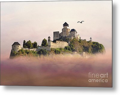 Castle In The Air IIi. - Trencin Castle Metal Print by Martin Dzurjanik