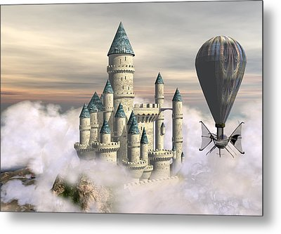 Castle In The Clouds 2 Metal Print