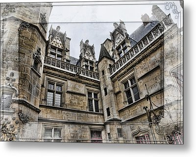 Castle In The Clouds Paris France Metal Print by Evie Carrier