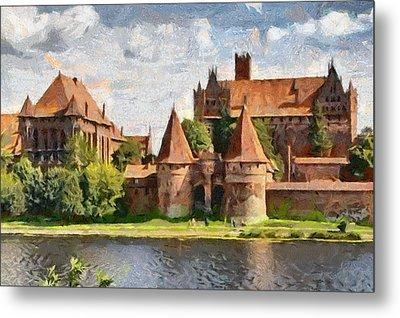 Castle Malbork Poland Metal Print
