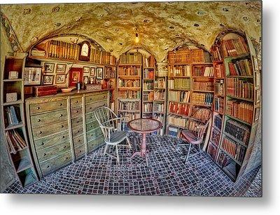 Castle Map Room Metal Print by Susan Candelario