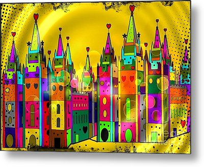 Castle Of Dreams By Nico Bielow Metal Print by Nico Bielow