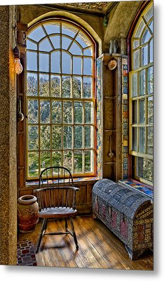 Castle Office Metal Print by Susan Candelario