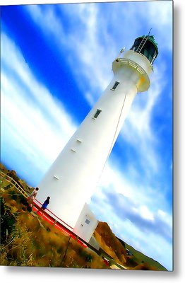 Castle Point Lighthouse Metal Print