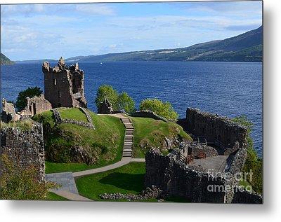 Castle Ruins On Loch Ness Metal Print