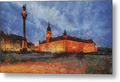 Castle Square In Warsaw Metal Print