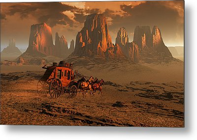 Castles In The Sand Metal Print by Dieter Carlton