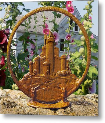 Metal Print featuring the pyrography Castles In The Sky by Doug Kreuger