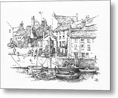 Metal Print featuring the drawing Castletown Harbour by Paul Davenport