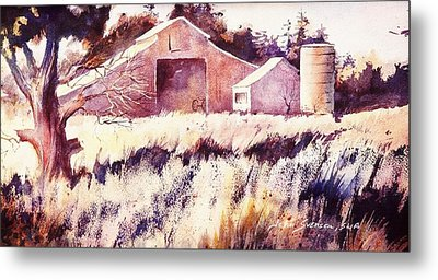 Metal Print featuring the painting Castroville Barn by John  Svenson